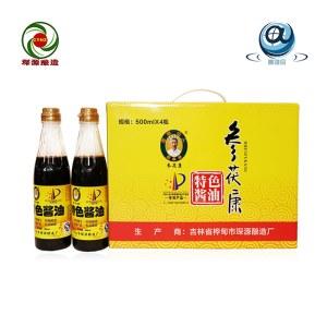 参茯康特色酱油 礼盒(塑料瓶500ml*4瓶)