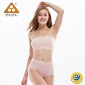 珠珠【4条装】女622高腰提花抗菌保健内裤二色随机混发  全国包邮