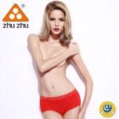 珠珠【4条装】624女士中腰印花透气舒适无痕内裤四色混发  全国包邮