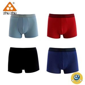 珠珠【4条装】D-6男士平角内裤