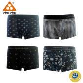 珠珠【4条装】D-2-3男士平角内裤