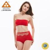 珠珠【4条装】3120女士高腰蕾丝提臀舒适内裤四色混发  全国包邮
