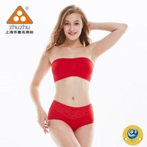 珠珠【4条装】9983女士时尚蕾丝中腰三角内裤 组合