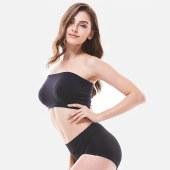 珠珠【 4条装】383纯色简约 中高腰 收腹舒适大码女士 三角内裤 全国包邮