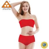 珠珠【4条装】3079棉质本命年大红中腰女三角内裤