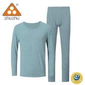 珠珠男士810-4 秋衣秋裤套装 莫代尔棉 纯色   保暖内衣  套装