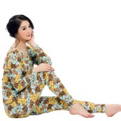 珠珠 361-1女士  时尚印花性感 秋衣秋裤保暖内衣打底套装  全国包邮