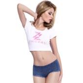 珠珠【 4条装】女士印花纯色蕾丝中腰三角内裤组合188/620