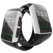 远程守护仪SOS报警睡眠定位 大屏计步心率血压实时检测 防水脉搏心电图中老年痴呆智能手表 黑色