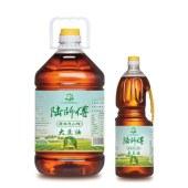 陆师傅小榨大豆油1.8L*6桶/箱(非转基因 物理压榨)