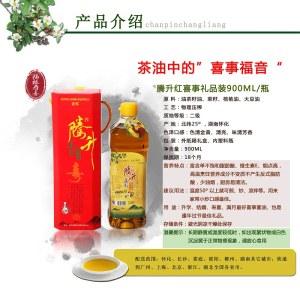 腾升茶籽油(红喜事礼盒装)  900ML/5瓶