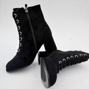 9885A黑色女式高帮鞋