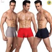 依侨红  一盒3条三只脚八段锦石墨烯能量男士内裤