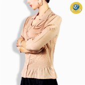 玛克玛索P1101中袖褶皱衬衫