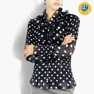 玛克玛索P1098波点褶皱衬衫