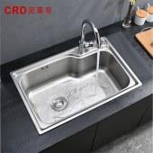 克莱帝 水槽单槽304不锈钢洗菜盆017