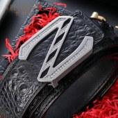 鳄鱼皮皮带自动扣V1051