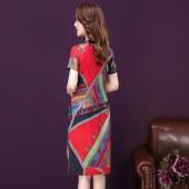 印花连衣裙8321