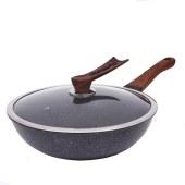 锐奥麦饭石煎炒锅32cm