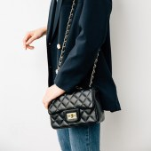包包女新款菱格链条包手袋女士单肩斜挎包小香风奈儿女包919升级版