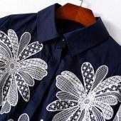 刺绣欧美气质衬衫
