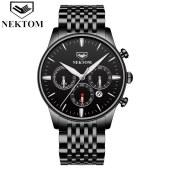 耐顿男士手表钢带多功能8196