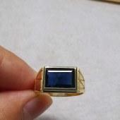 18K天然蓝宝石戒指