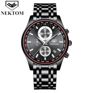 耐顿男士石英手表多功能