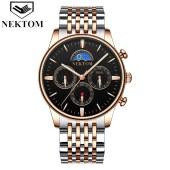 耐顿男士商务手表钢带防水 A8193G