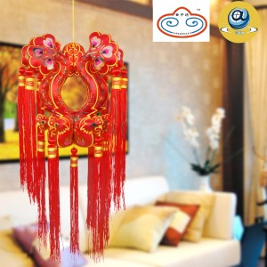 庆阳香包(陇绣)凤凰宫灯挂件
