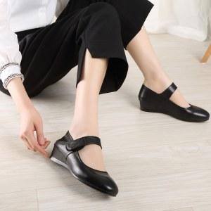 妈妈鞋真皮