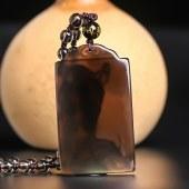 三泰珠宝 开光天然冰种黑曜石关公武财神吊坠