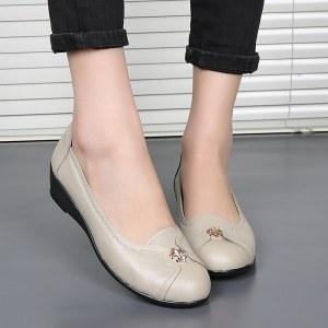 头层牛皮真皮女士皮鞋