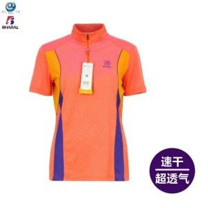 B3072女立领短袖速干T恤