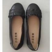 真皮女鞋坡跟软底妈妈鞋37058