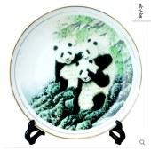 景德镇陶瓷国宝熊猫装饰盘