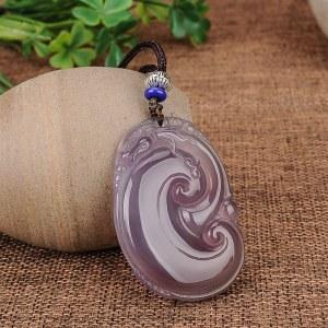 三泰珠宝 冰种帝王紫玉髓如意吊坠