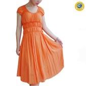 玛克玛索P184褶皱雪纺钉珠连身裙