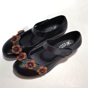 头层牛皮民族风女士皮鞋