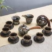 拉丝瓷陶瓷功夫茶具泡茶器
