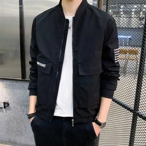 柒腾男青年棒球领夹克外套-HNBC2911