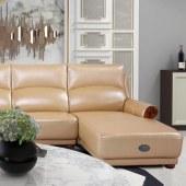 霓尚   实木真皮沙发