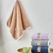 意莱维 轻奢贴布绣加大毛巾(4条装)40*80