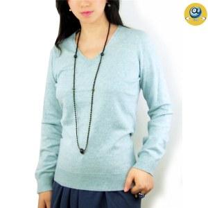 玛克玛索K2005羊绒无缝V领针织衫