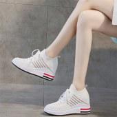 更朵新款飞织增高女鞋XQ168