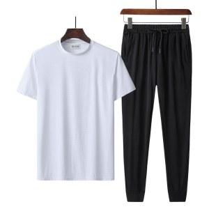 冰丝短袖天丝罗马长裤套装LE-112
