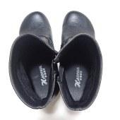 牛皮复古妈妈鞋短靴