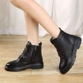 全牛皮羊毛 短筒马丁靴女短靴