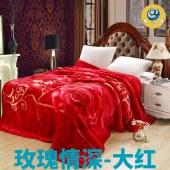 加厚拉舍尔毛毯