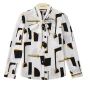 衣纯华菲  秋季新款时尚韩版修身设计感小众雪纺衬衫女6110
